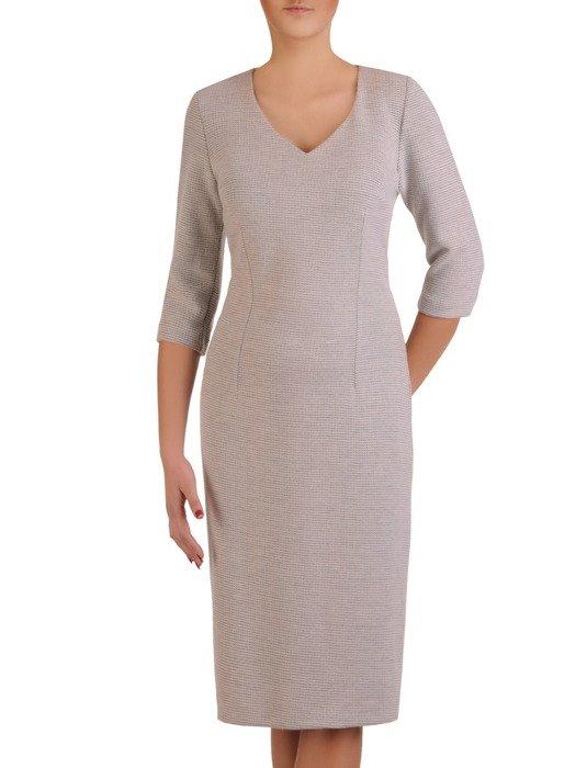 Sukienka damska Irwina II, prosta kreacja z dzianiny.