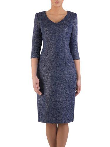 Sukienka damska Irwina XI, prosta kreacja z dzianiny.
