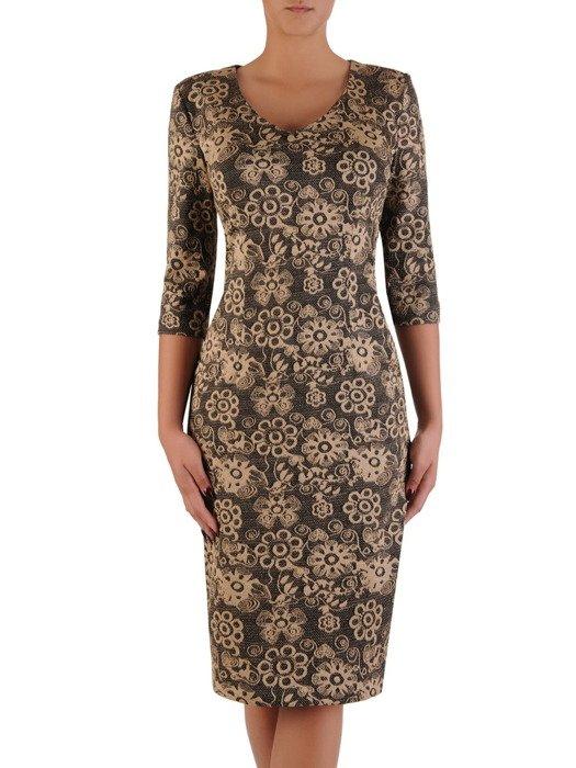 Sukienka damska Irwina XIV, prosta kreacja z dzianiny.