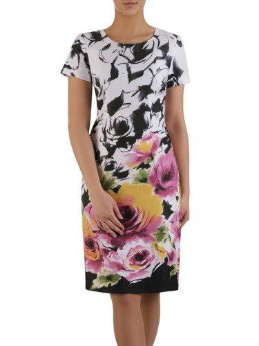 Sukienka damska Italina, wiosenna kreacja w kwiaty.