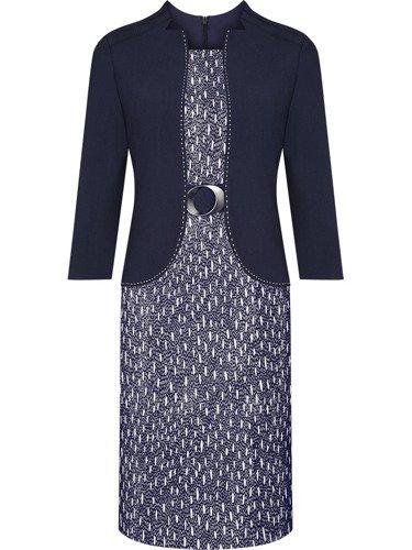 Sukienka damska Tacjana, jesienna kreacja w wyszczuplającym fasonie.