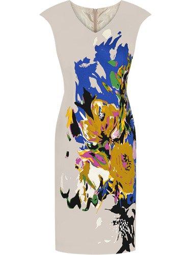 Sukienka damska Zafira III, wiosenna kreacja w kwiaty.