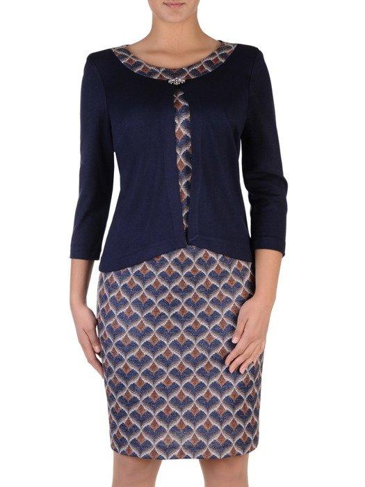 Sukienka damska Zojka II, jesienna kreacja w fasonie maskującym brzuch.