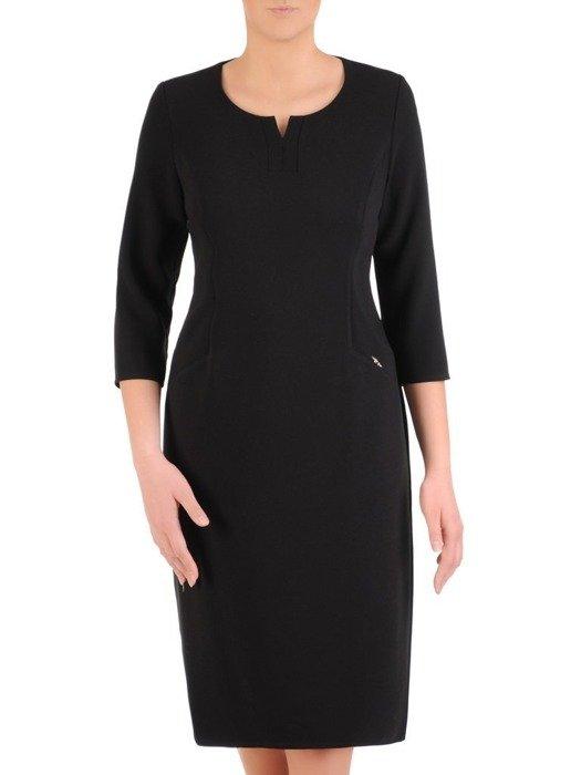 Sukienka damska, czarna kreacja w prostym fasonie 25766