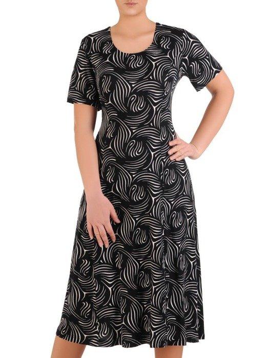Sukienka damska, dzianinowa kreacja w długości midi 25739