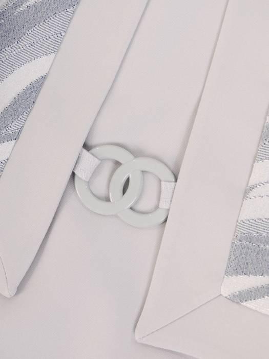 Sukienka damska z tkaniny, kreacja z imitacją żakietu 29879