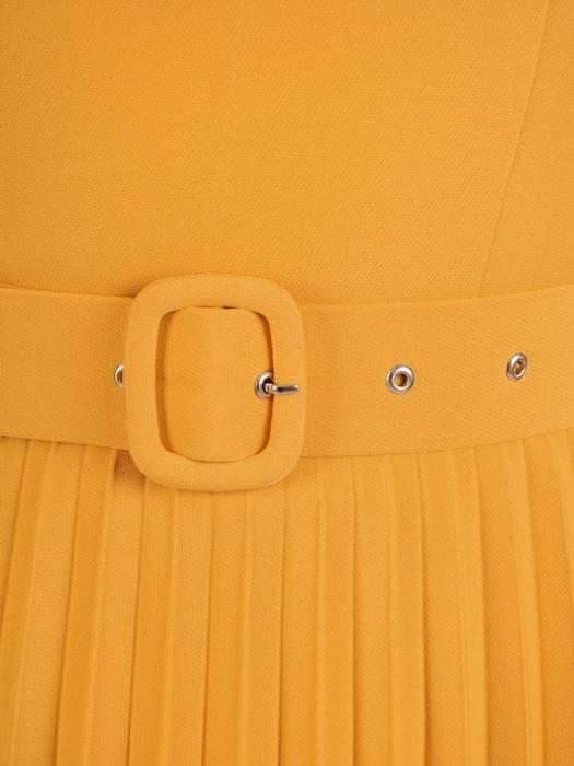 Sukienka koktajlowa, kreacja z plisowaną spódnicą 29790
