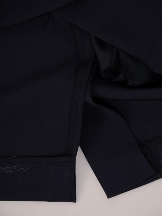 Sukienka kopertowa, wyszczuplająca kreacja z łączonych tkanin 20654.