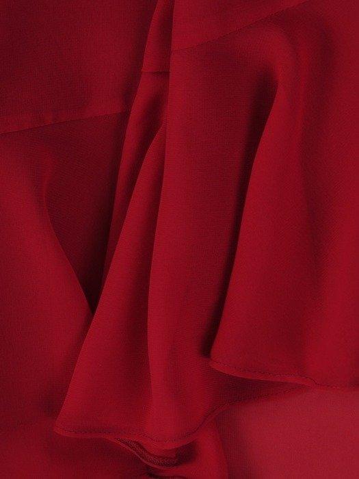 Sukienka kopertowa, zwiewna kreacja z szyfonu 26028