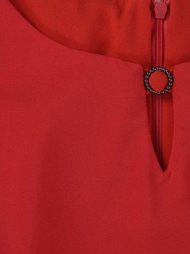 Sukienka na wesele Afrodyta II, koralowa kreacja maskująca brzuch.
