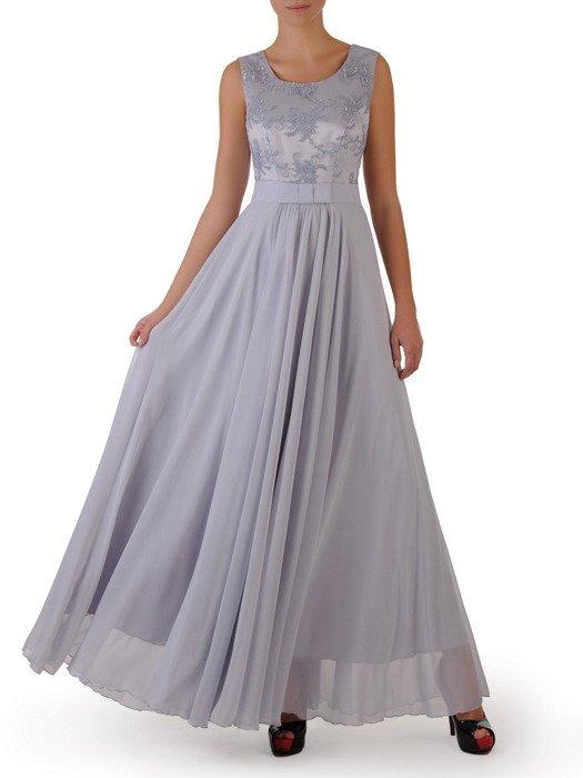 Sukienka na wesele Galina II, długa kreacja z koronki i szyfonu.