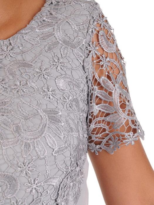 Sukienka na wesele Wirginia XII, elegancka kreacja z koronki i tkaniny.