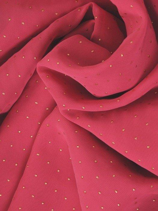 """Sukienka na wesele, amarantowa kreacja z dekoltem typu """"woda"""" 26685"""
