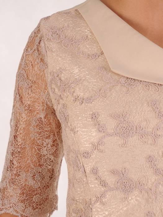 Sukienka na wesele, elegancka kreacja z koronki i tkaniny 26309