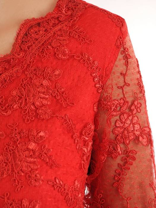 Sukienka na wesele, elegancka kreacja z koronki i tkaniny 26426