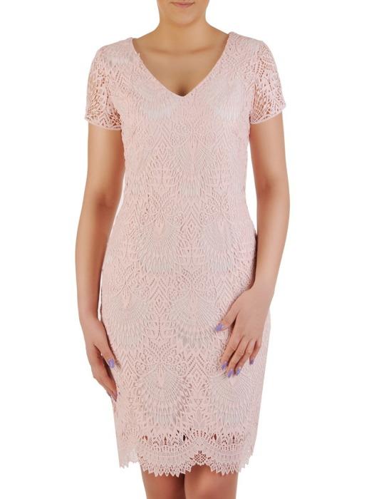 Sukienka na wesele, komunię, elegancka kreacja z koronki 20527.