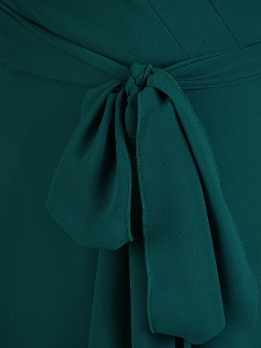 Sukienka o kopertowym kroju, zwiewna kreacja z szyfonu 21956