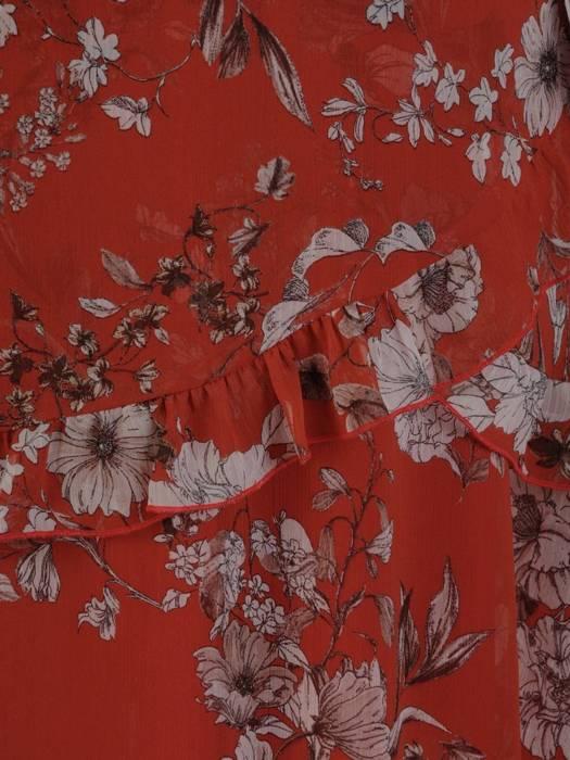 Sukienka o trapezowym kroju, kreacja z falbanami 27058