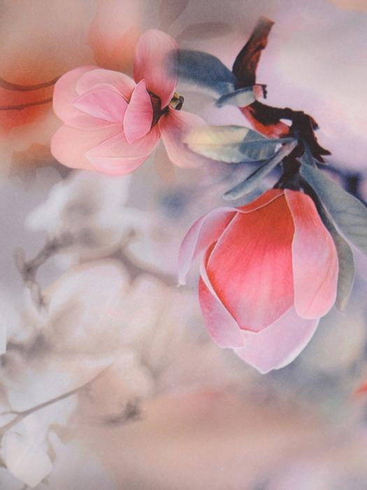 Sukienka rozkloszowana, wiosenna kreacja w kwiaty 20643.