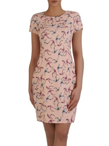Sukienka tuba Mirona LXV, wyszczuplająca kreacja maskująca brzuch.