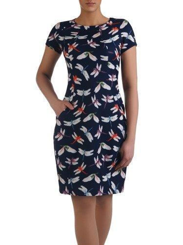 Sukienka tuba Mirona LXXIII, wyszczuplająca kreacja maskująca brzuch.
