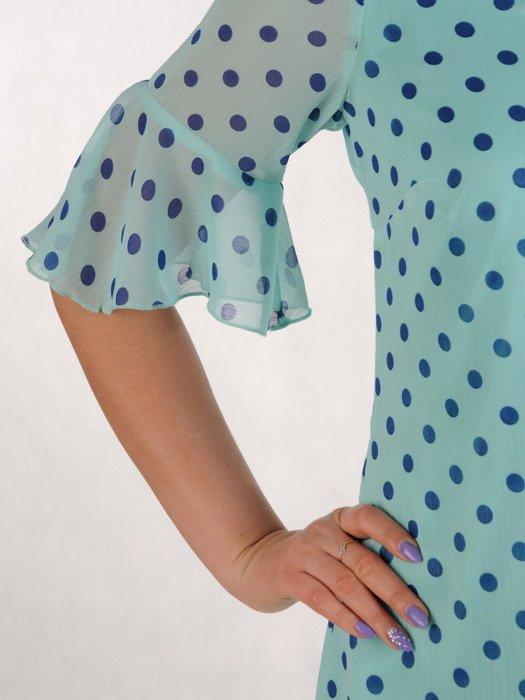 Sukienka w grochy, zwiewna kreacja z szyfonu 20440.