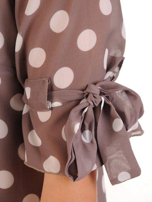 Sukienka w groszki, luźna kreacja z szyfonu 26227