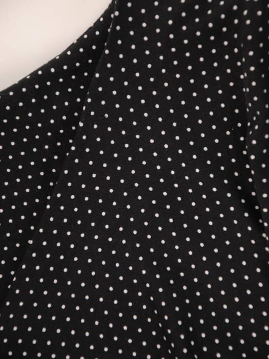 Sukienka w groszki, prosty fason z dekoltem w serek 28794
