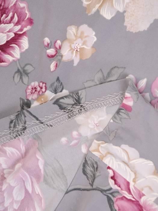 Sukienka w kwiatki, prosty fason z dekoltem w serek 28813