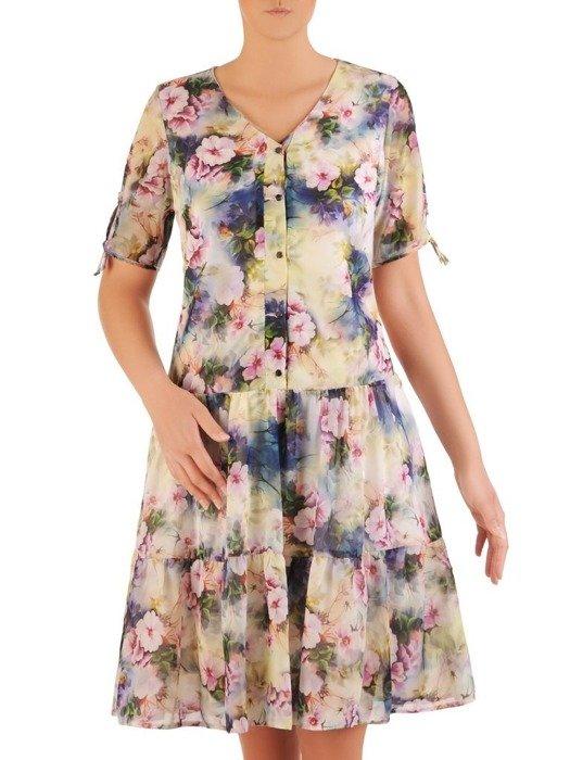 Sukienka w luźnym fasonie, zwiewna kreacja na lato 26084