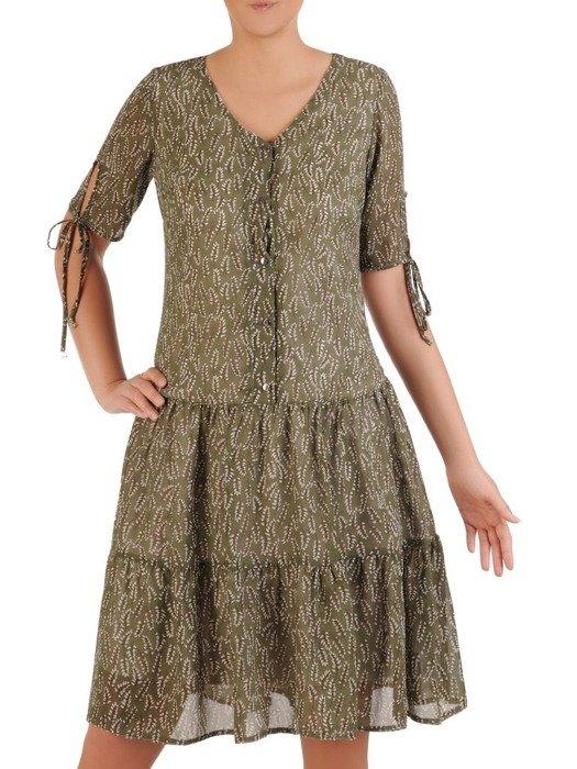 Sukienka w luźnym fasonie, zwiewna kreacja na lato 26085
