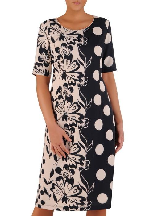 Sukienka w wyszczuplającym wzorze 22247.