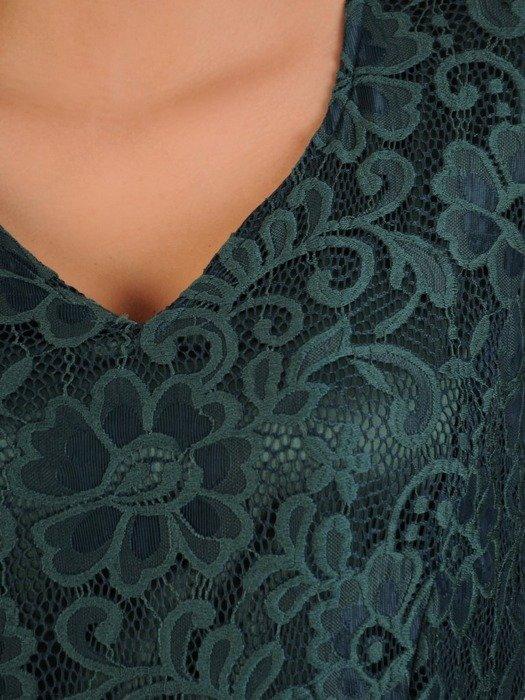 Sukienka wieczorowa, rozkloszowana kreacja z koronki 26002