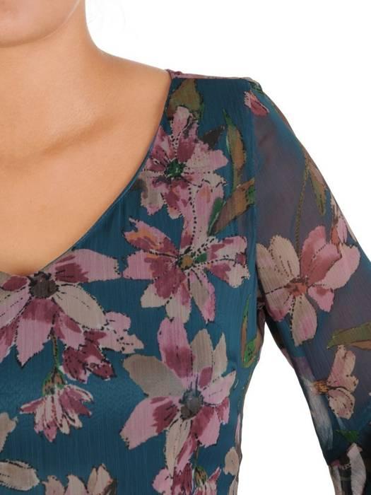 Sukienka wyjściowa, elegancka kreacja w kwiaty 27286