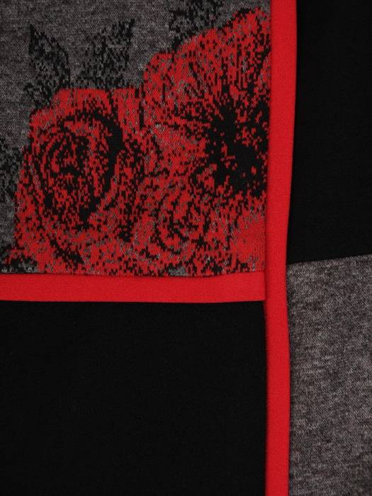 Sukienka wyjściowa,kreacja z łączonych tkanin 26987