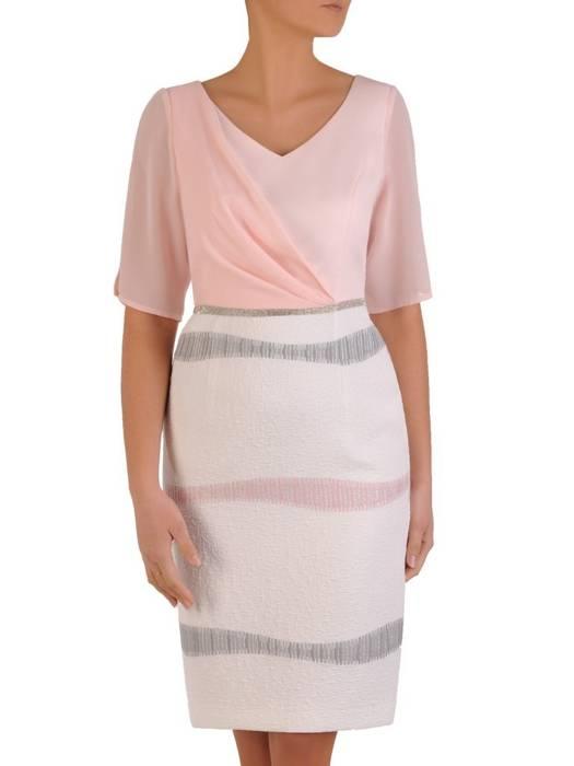 Sukienka wyjściowa, kreacja z szyfonowymi rękawami 28208