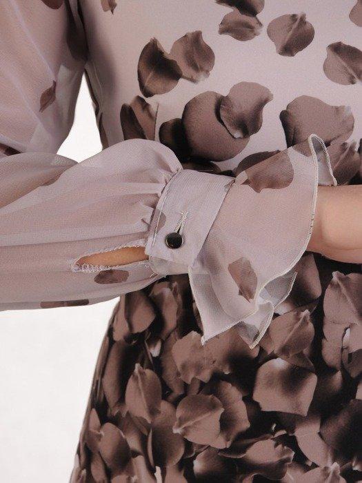 Sukienka wyjściowa, modna kreacja w wyszczuplającym wzorze 25673.