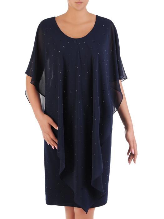 Sukienka wyjściowa, nowoczesna kreacja w fasonie maskującym brzuch 21003.