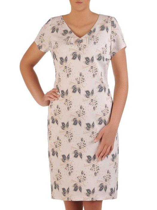 Sukienka wyjściowa, oryginalna kreacja z ciekawym wzorem 25933