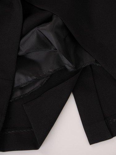 Sukienka wyszczuplająca 2w1 15846, prosta kreacja z luźną, szyfonową narzutką.