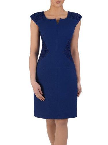 Sukienka wyszczuplająca Telimena IV, efektowna kreacja z dodatkiem koronki.