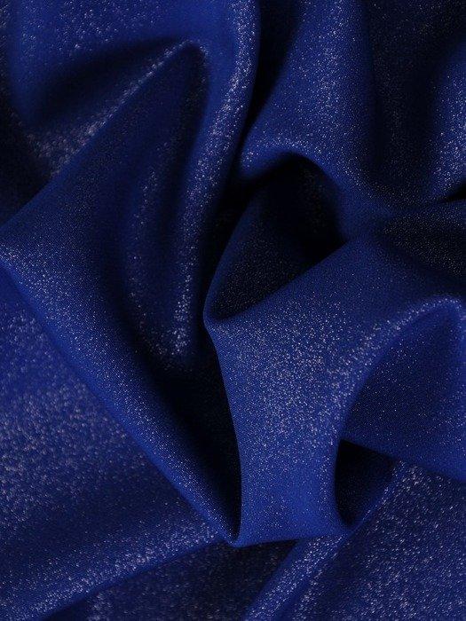 Sukienka wyszczuplająca talię, chabrowa kreacja kopertowa 25114