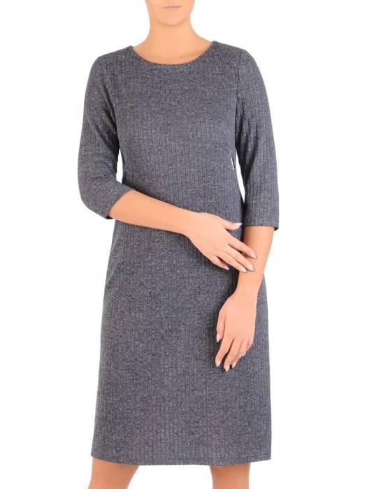 Sukienka z dzianiny, prosta kreacja na jesień 27567