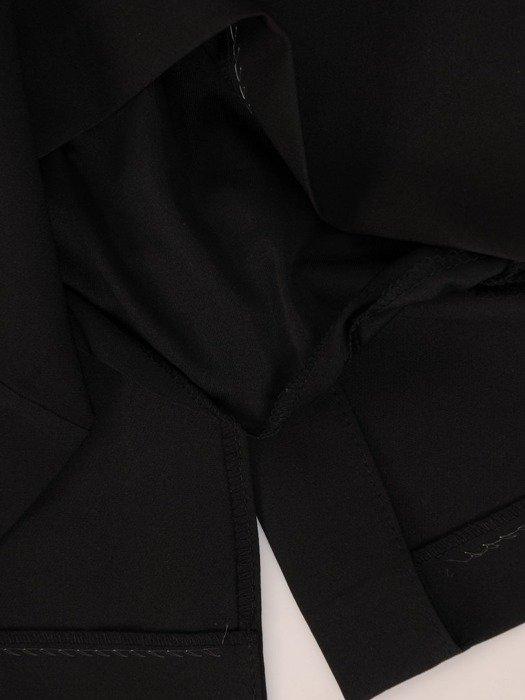 Sukienka z imitacją żakietu, prosta kreacja z ozdobnym kołnierzem 26790