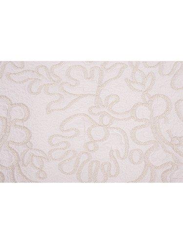 Sukienka z jasnego żakardu Lilla I, elegancka kreacja z połyskującym wzorem.