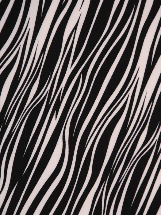 Sukienka z kontrastowym paskiem, modna kreacja w zwierzęcym wzorze 27004