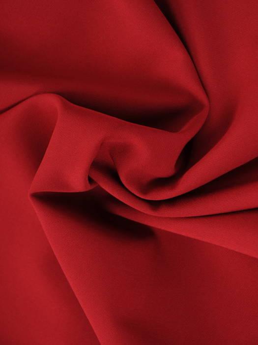 Sukienka z koronkowym karczkiem, kreacja w kolorze bordowym 30702