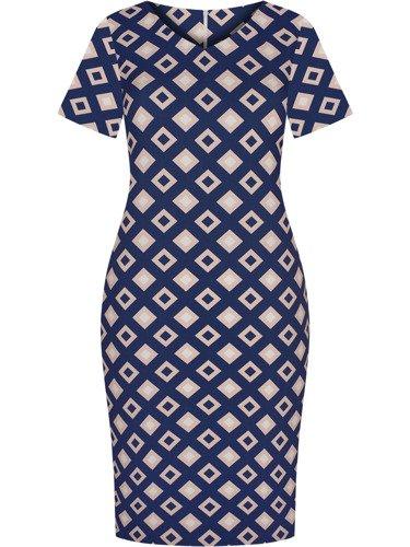 Sukienka z modnym nadrukiem Stefania III