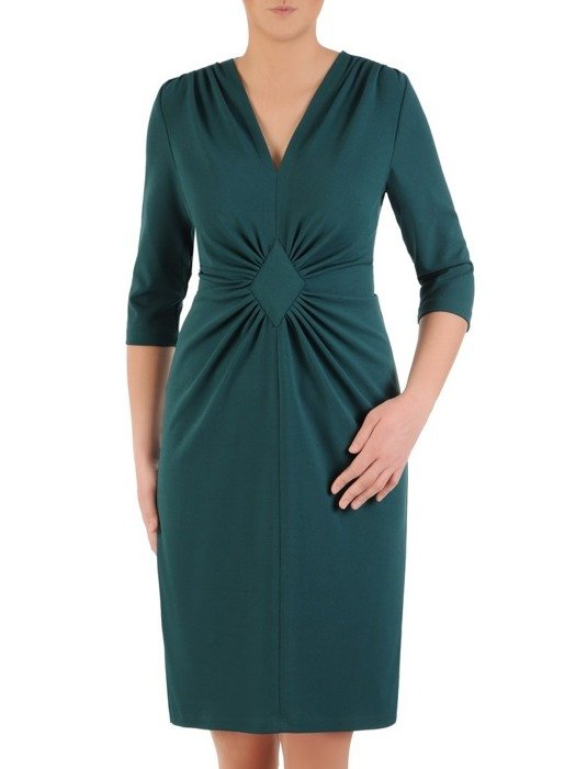 Sukienka z ozdobnym marszczeniem w talii 25223