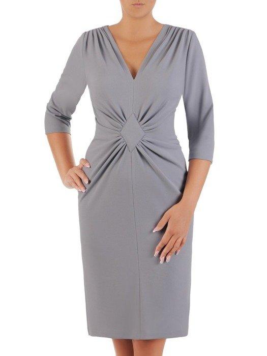 Sukienka z ozdobnym marszczeniem w talii 26749